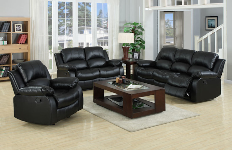 CHINA BUSiiNESS SERVICES Multimedia roomFurniture Kulit Black
