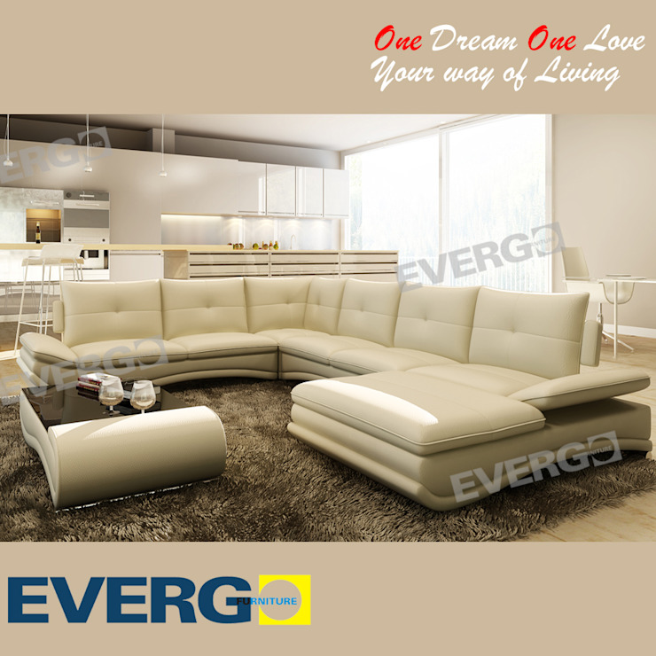 LIVING ROOM SOFA: modern  by CHINA BUSiiNESS SERVICES,Modern Leather Grey