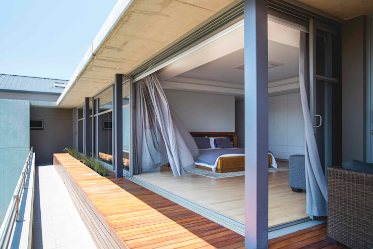 House Swart (Cameron Court Unit 1):  Bedroom by Swart & Associates Architects,