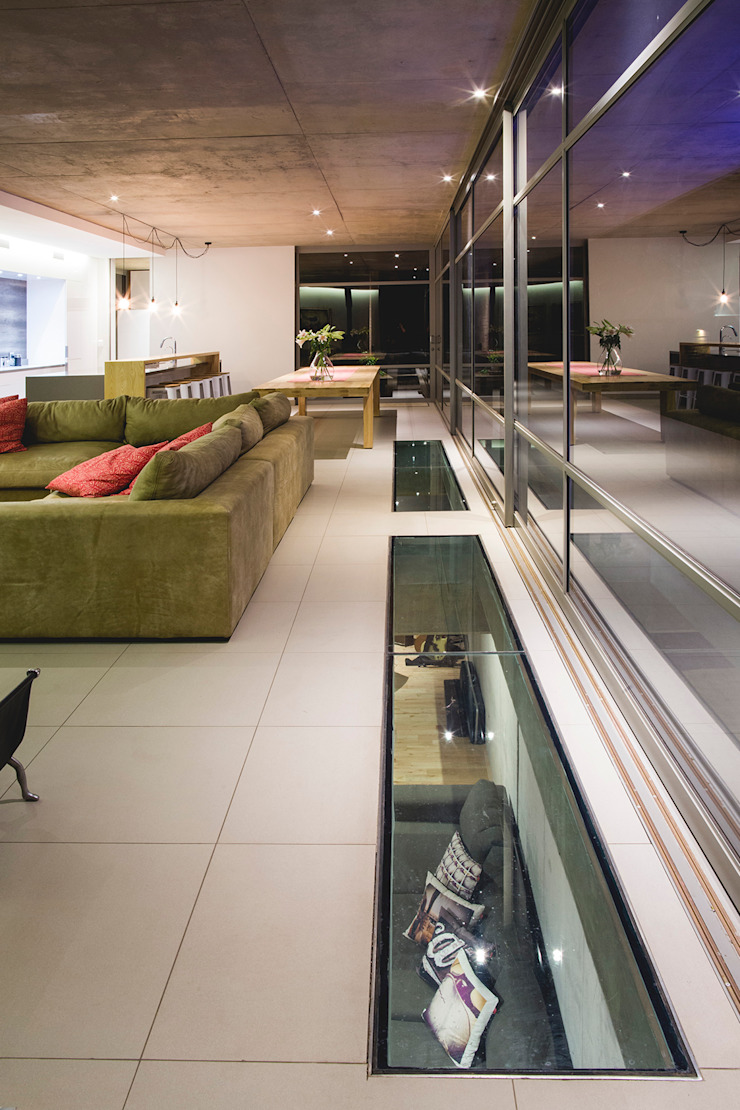 House Swart (Cameron Court Unit 1) Modern living room by Swart & Associates Architects Modern