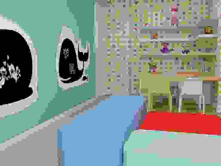 VIVIENDA UNIFAMILIAR JUSTO DEL RIO D.I. Dormitorios infantiles de estilo moderno