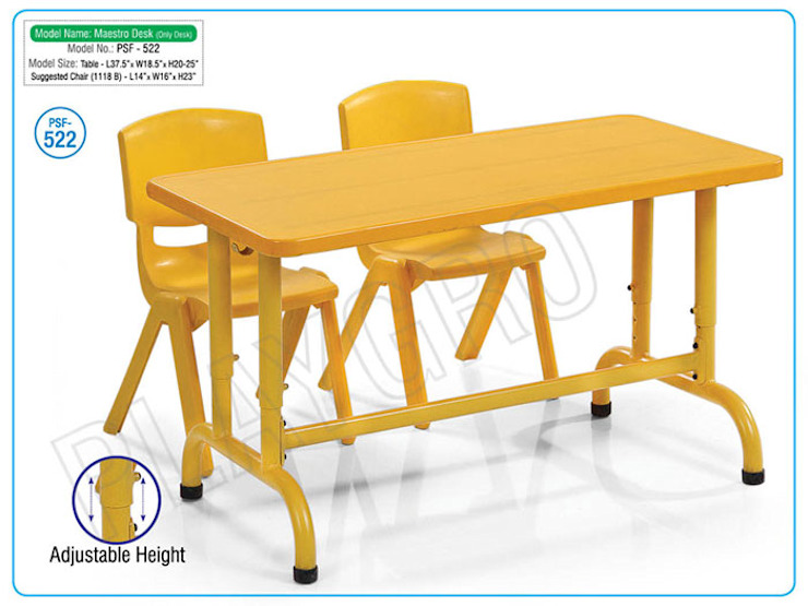 Play School Desk, Preschool Furniture, School Chairs, : country  by Playgro Toys India,Country Plywood