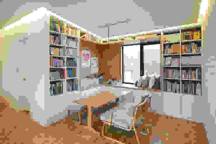 Trace House 컨트리스타일 거실 by 미우가 디자인 스튜디오 컨트리