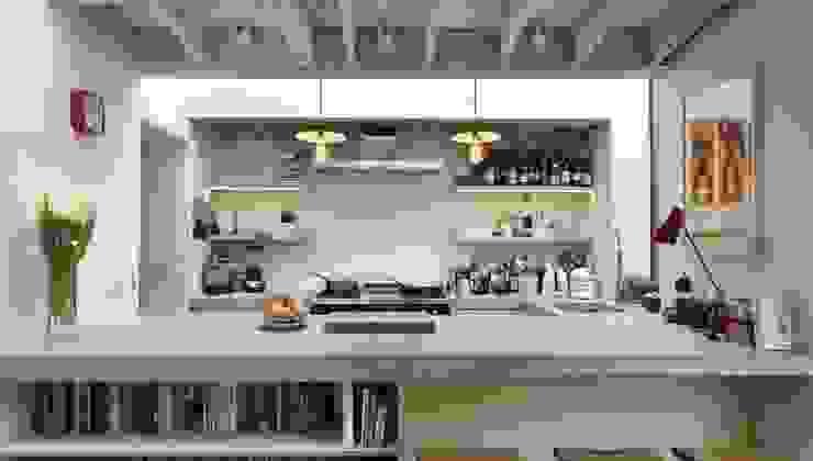 Breakfast Bar 現代廚房設計點子、靈感&圖片 根據 Fraher and Findlay 現代風 水泥