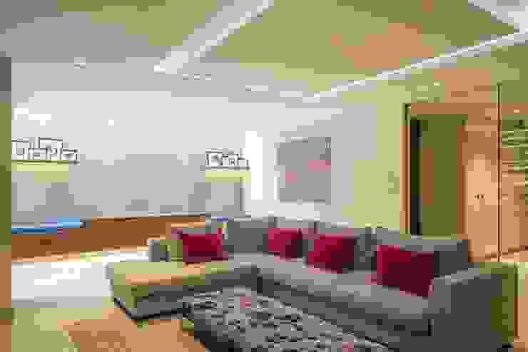 Basement living Modern Living Room by Fraher and Findlay Modern