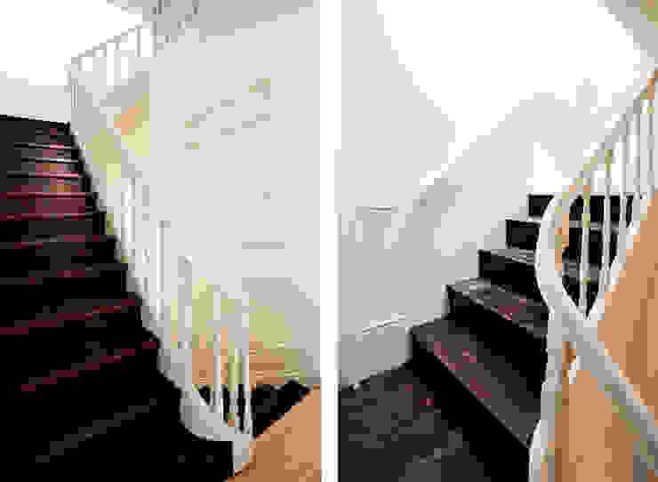 現代風玄關、走廊與階梯 根據 A2OFFICE 現代風