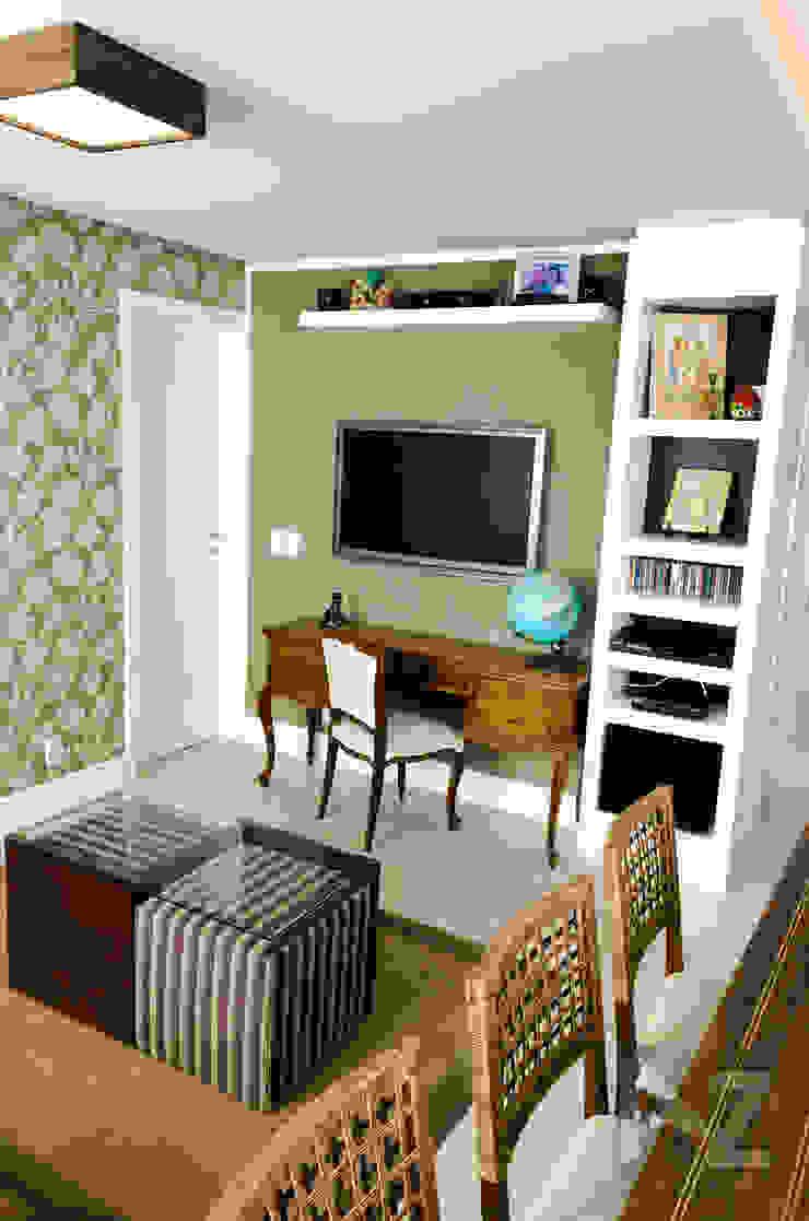 Apartamento Jari I AZ Arquitetura Salas de estar tropicais