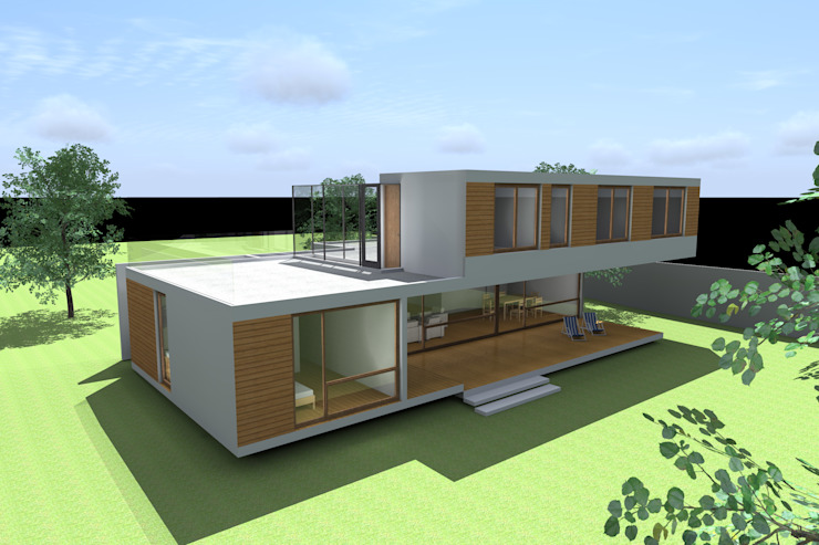 CASA PIRQUE Casas estilo moderno: ideas, arquitectura e imágenes de homify Moderno Concreto