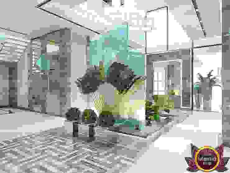 Futurism in interiors of Katrina Antonovich Modern Corridor, Hallway and Staircase by Luxury Antonovich Design Modern