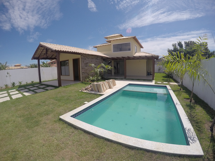 Pool by Aroeira Arquitetura, Tropical Wood Wood effect