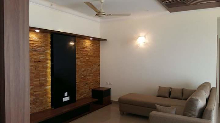 Interiors Residential Modern living room by Swastik Interiors Modern