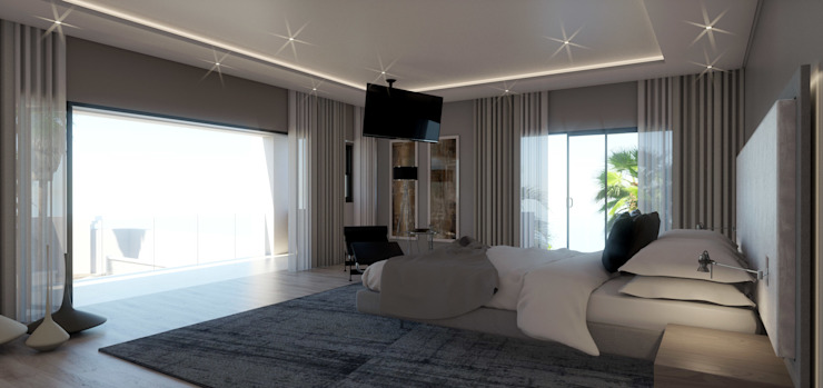 House St Andrews:  Bedroom by Principia Design, Modern