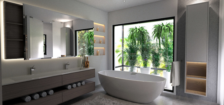 House St Andrews:  Bathroom by Principia Design,