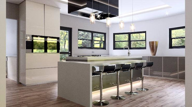 House St Andrews:  Kitchen by Principia Design,