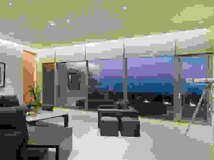 Soggiorno moderno di 何侯設計 Ho + Hou Studio Architects Moderno