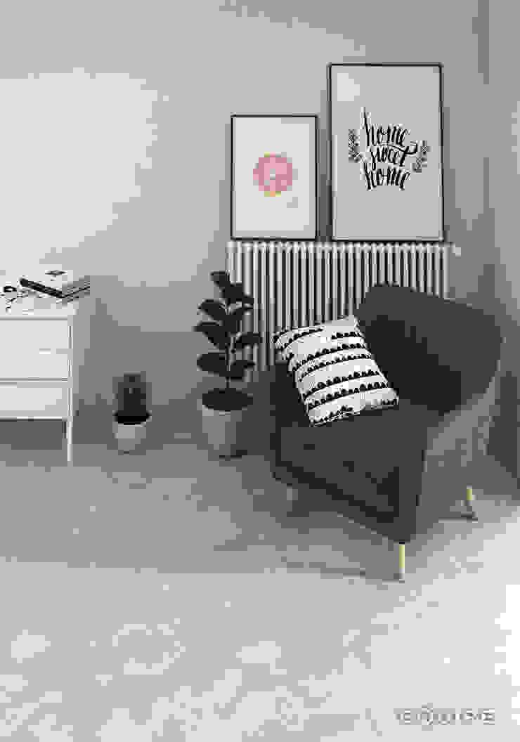Urban Livings de estilo escandinavo de Equipe Ceramicas Escandinavo Cerámico