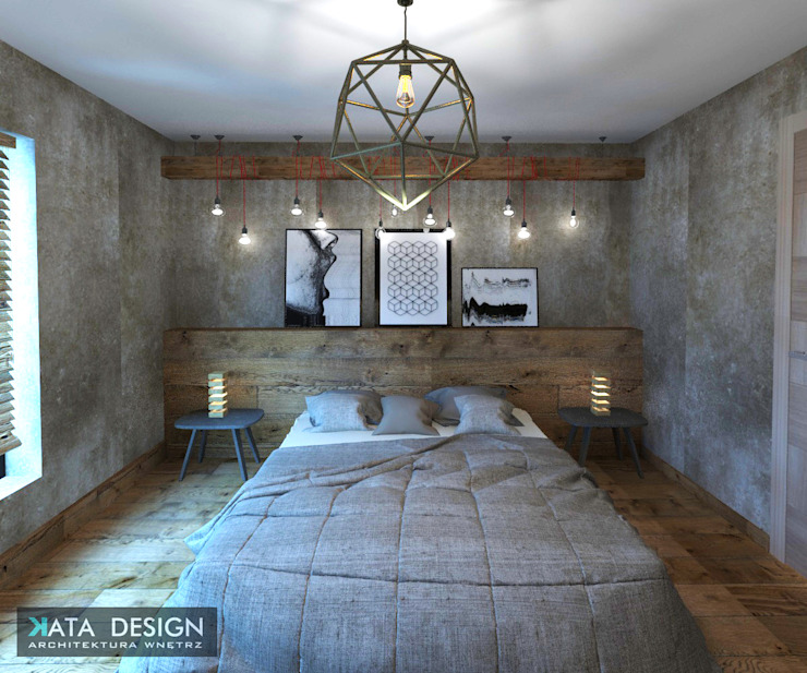 Industrial style bedroom by Kata Design Industrial