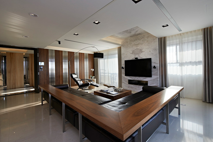 Living Room Modern living room by CCL Architects & Planners林祺錦建築師事務所 Modern