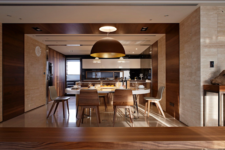 Dining Room Modern living room by CCL Architects & Planners林祺錦建築師事務所 Modern