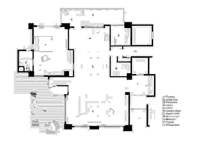 20F PLAN: 現代  by CCL Architects & Planners林祺錦建築師事務所, 現代風