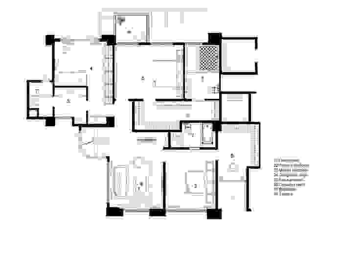 21F PLAN: 現代  by CCL Architects & Planners林祺錦建築師事務所, 現代風