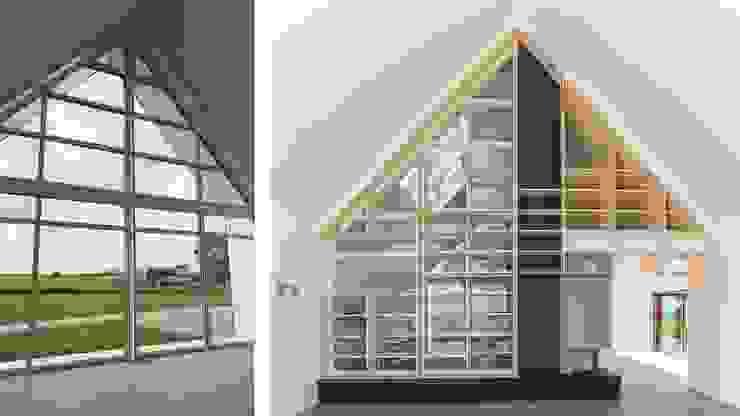 Woonhuis Bonkelaarsdijk Moderne woonkamers van GeO Architecten Modern