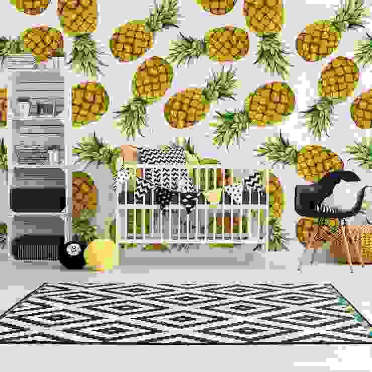 Ananasowe love - pyszne na ścianie od Viewgo Nowoczesny