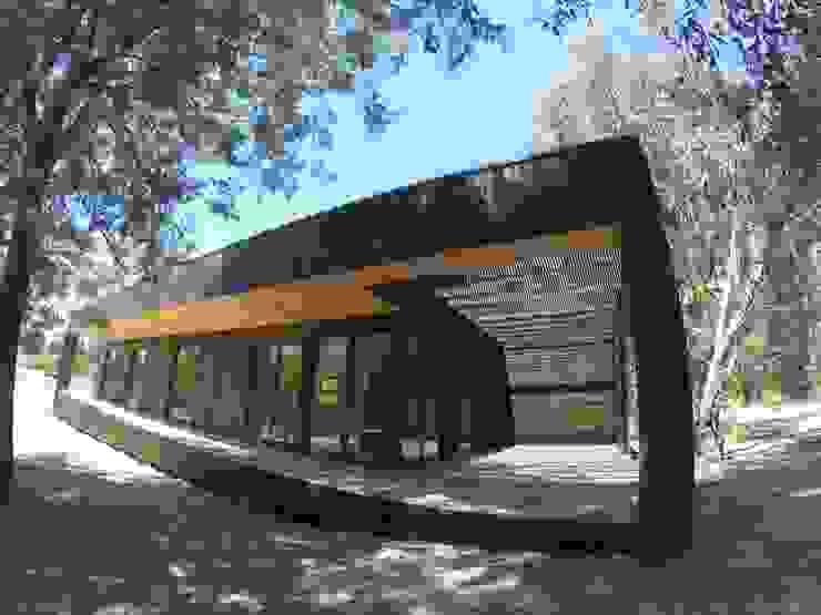 Futrono Casas de estilo mediterráneo de Casur Mediterráneo Madera Acabado en madera