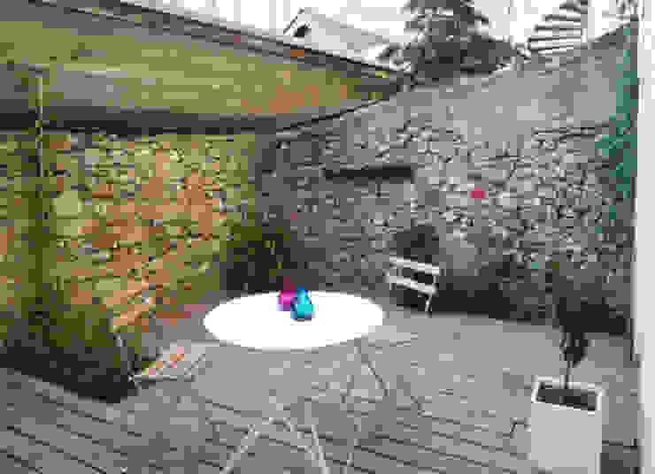 Minimalist style garden by yg-architecte Minimalist Stone