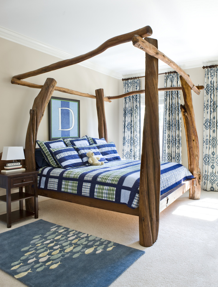 Next Generation - Boys Room Lorna Gross Interior Design Classic style bedroom Blue