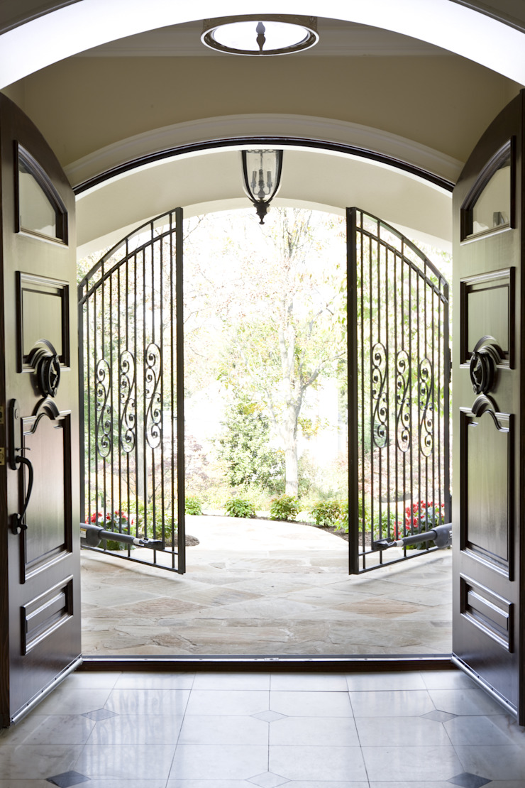 Caribbean Dream - Custom Entry Door & Gate Classic style windows & doors by Lorna Gross Interior Design Classic