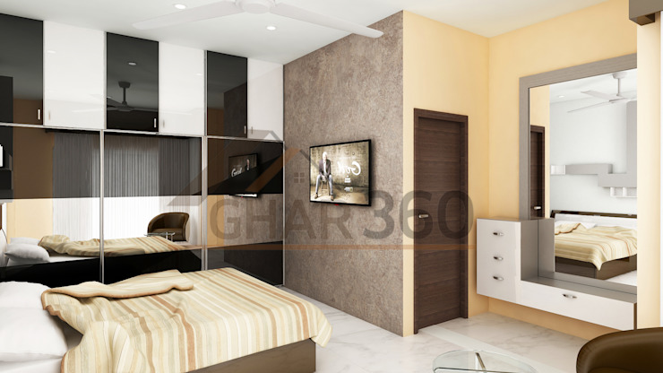 Wardrobe and Wall Paper Design Ghar360