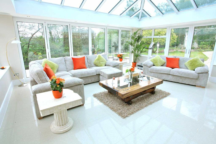Draethen Farm House Conversion Modern style conservatory by Smarta Modern