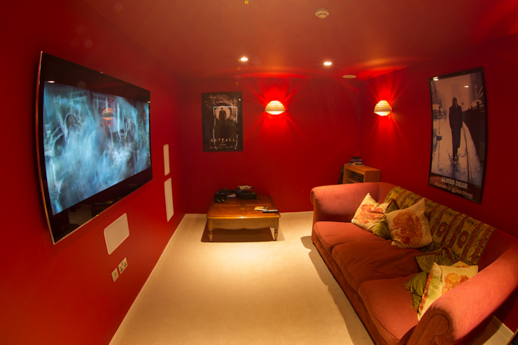 Millbrook House Modern media room by Smarta Modern