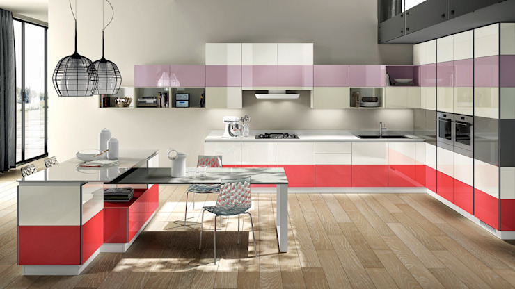 modular kitchen made by color kitchen gallery Modern kitchen by colors kitchen gallery Modern MDF