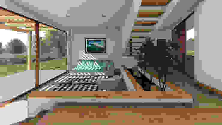 CASA CY EjeSuR Arquitectura Livings de estilo moderno