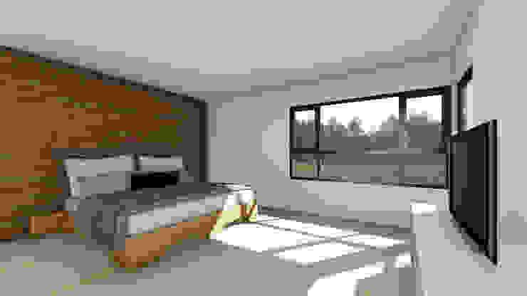 CASA AN Dormitorios de estilo rural de EjeSuR Arquitectura Rural
