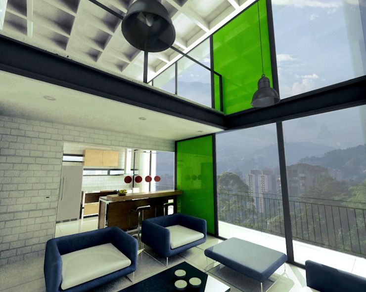 L _ 24 - Sur _ Apartamentos Lofts Casas de estilo industrial de @tresarquitectos Industrial