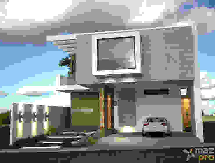 FACHADA PRINCIPAL Casas modernas de Mazpro Arquitectura Moderno