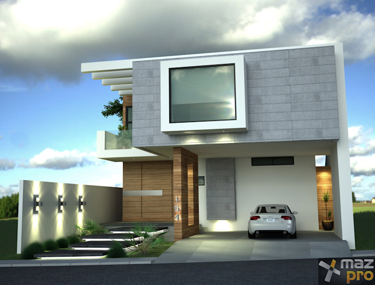 Casas de estilo  por Mazpro Arquitectura