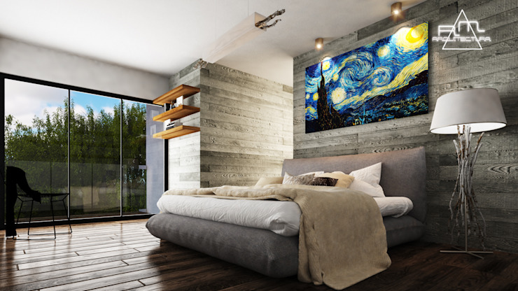 Modern style bedroom by RM ARQUITECTURA Modern Concrete