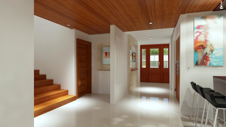 Modern Corridor, Hallway and Staircase by CouturierStudio Modern
