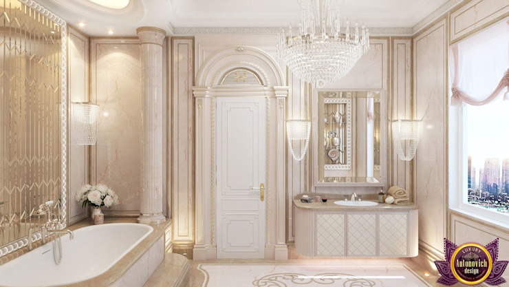 ​Luxurious bathroom design by Katrina Antonovich Classic style bathroom by Luxury Antonovich Design Classic