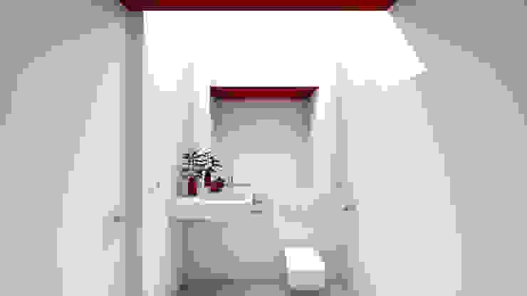 A2 arquitectura interior Phòng tắm phong cách tối giản