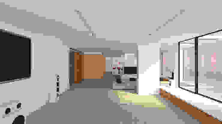 A2 arquitectura interior Phòng giải trí phong cách tối giản