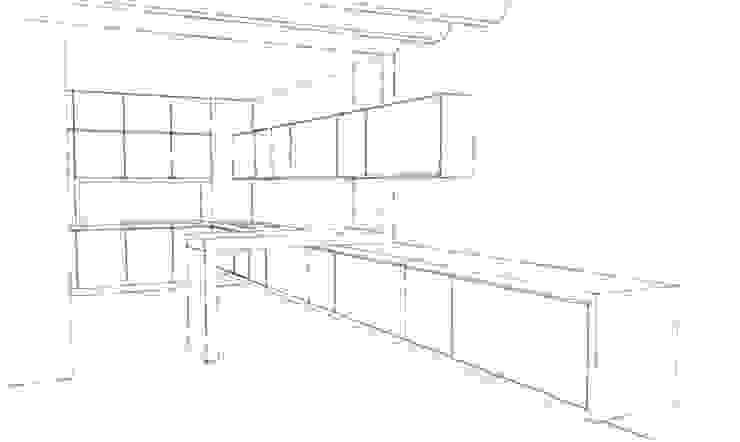 Projecte per reformar la zona de cuina-menjador de A2 arquitectura interior Minimalista