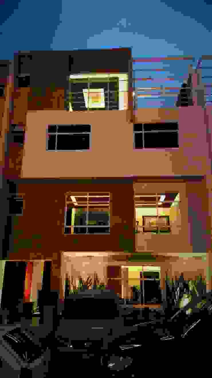 H+R ARQUITECTOS Casas de estilo moderno Blanco