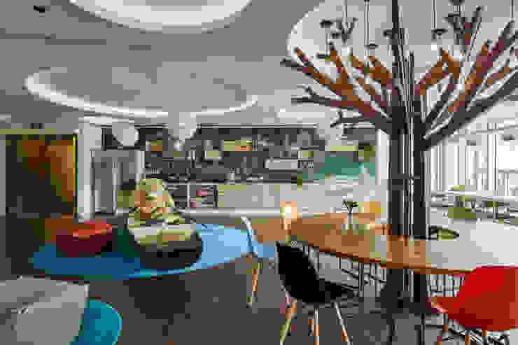 公共區休閒空間 Modern style study/office by CCL Architects & Planners林祺錦建築師事務所 Modern