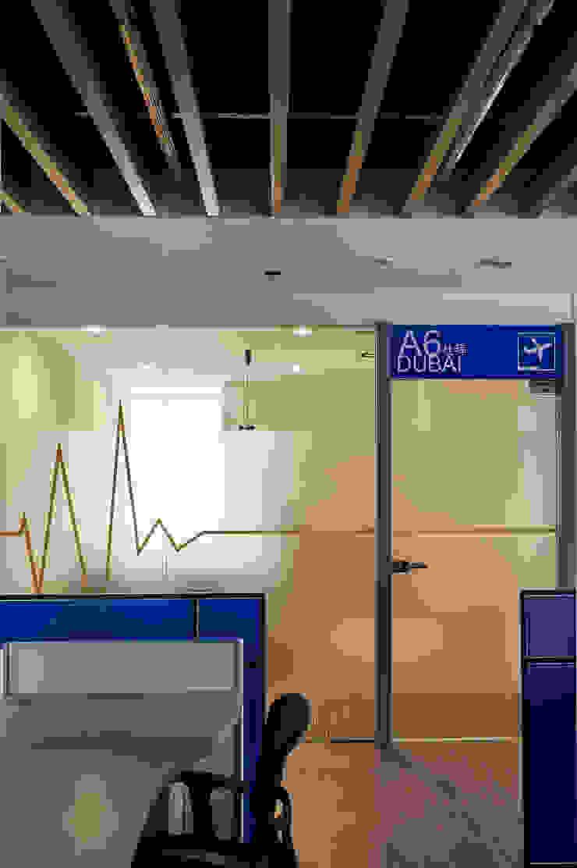 主管辦公室入口 Modern style study/office by CCL Architects & Planners林祺錦建築師事務所 Modern