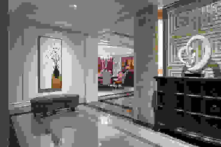 玄關 漢品室內設計 經典風格的走廊,走廊和樓梯